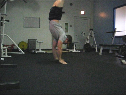 clapping handstand pushup 10