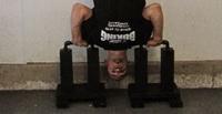 Homemade handstand pushup handles