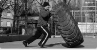 Raw War: Tire flipping!