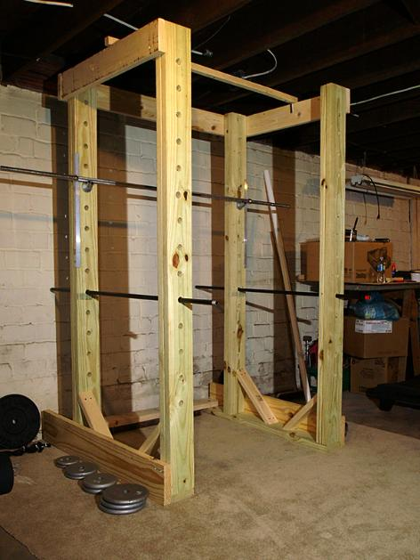 Power rack in legno