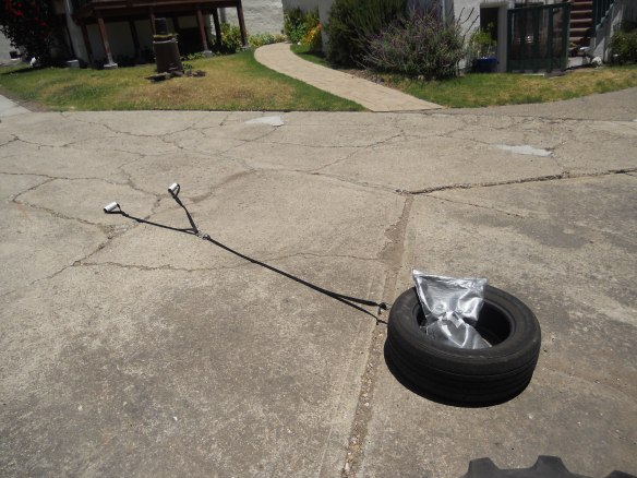 Homemade tire sled