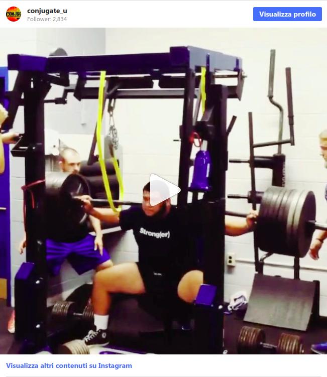 Video di squat pesante