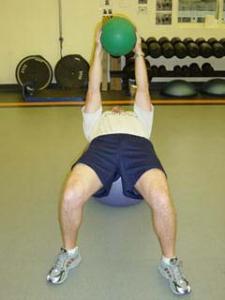 Stability Ball / Medicine Ball Russian Twist - Start