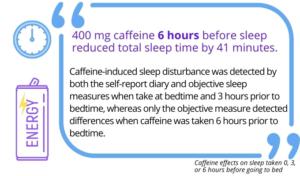 Effetti della caffeina sul sonno
