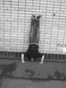 Handstand push-up posizione iniziale